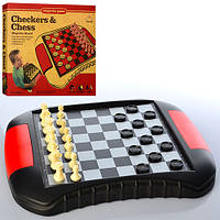 Шахи SC9518 2в1 (шашки), магнітні, ігрове поле, кор., 35-29,5-4 см.