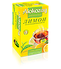 Чай Черный Фруктовый Лимон Alokozay (Алокозай) 25 пакетиков