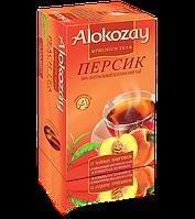 Чай Черный Фруктовый Персик Alokozay (Алокозай) 25 пакетиков