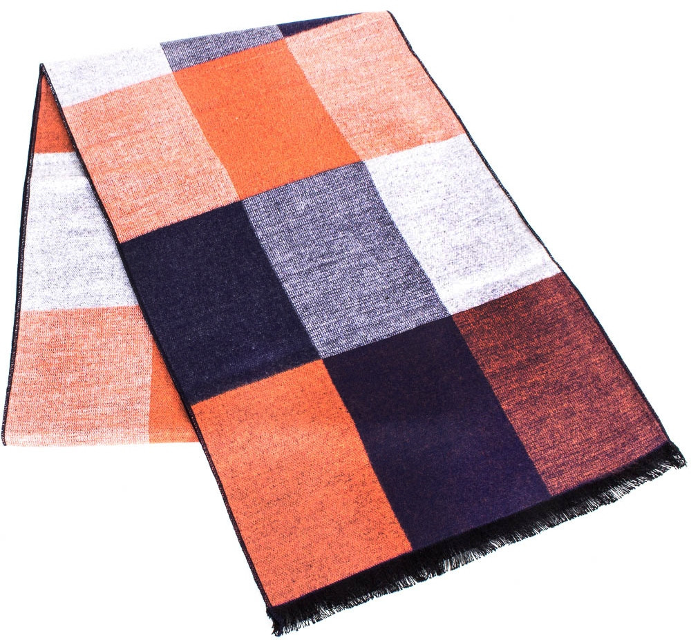 Оригинальный мужской шерстяной двухсторонний 176 на 30 см ETERNO (ЭТЕРНО) ES2307-23 разноцветный