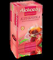 Чай Черный Фруктовый Клубника Alokozay (Алокозай) 25 пакетиков