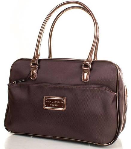 Классическая женская сумка в коричневом цвете, ткань Ted Lapidus FRHNY4085H14-10