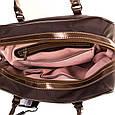 Классическая женская сумка в коричневом цвете, ткань Ted Lapidus FRHNY4085H14-10, фото 6