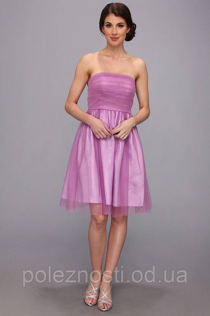 Платье Donna Morgan Strapless Tulle With Rouched Bodice (USA оригинал), размер Л