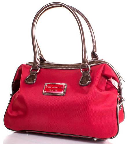 Выразительная женская сумка в современном стиле, ткань Ted Lapidus FRHNY4082H15-1 красный