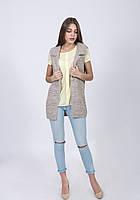 Модный вязаный женский жилет