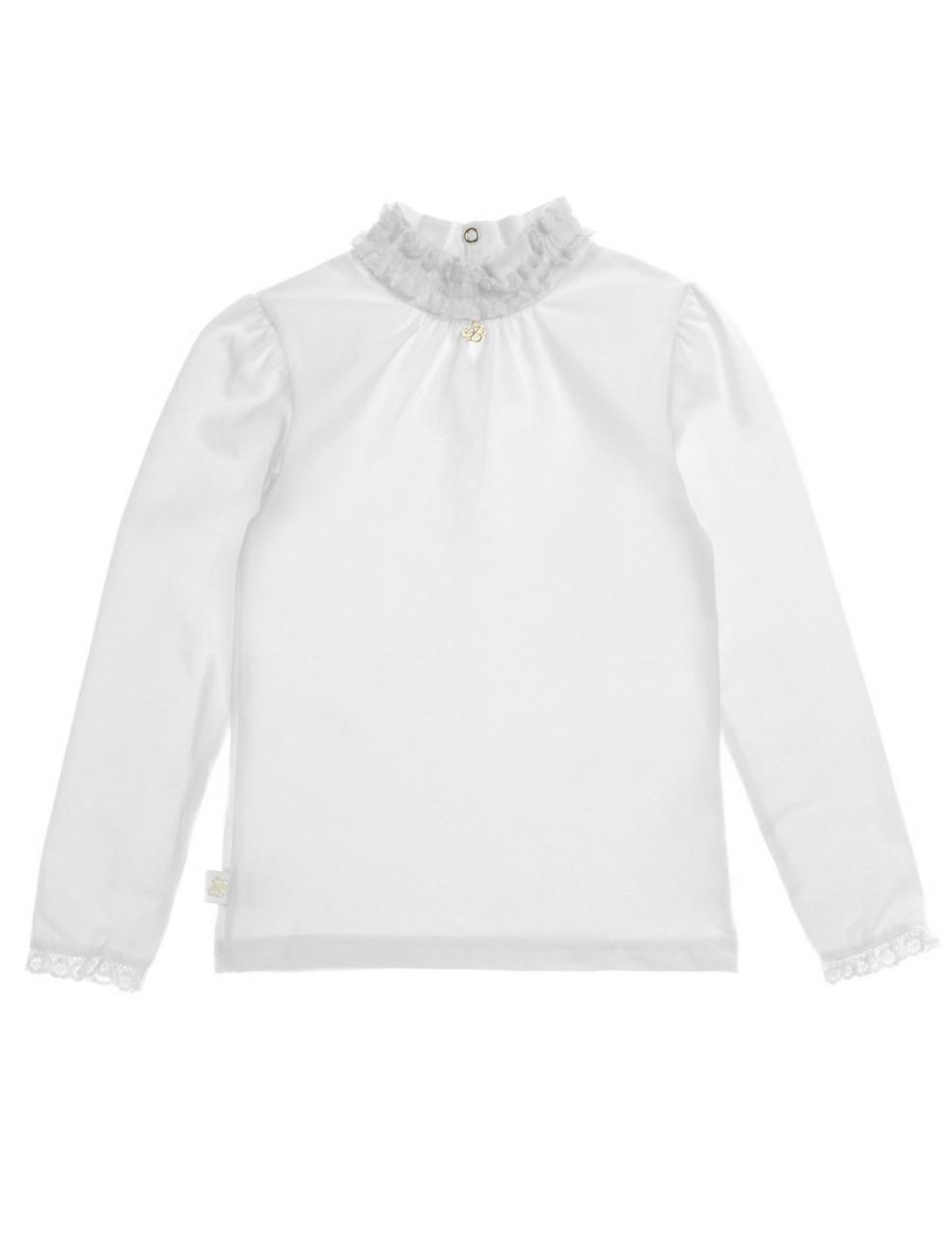 Гольф блуза для девочки с длинным рукавом, белый, SMIL (Смил), Украина 152 158