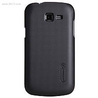 Чехол Nillkin Super Frosted для Samsung Galaxy Trend Lite (s7390) black + защитная плёнка