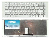 Оригинальная клавиатура для ноутбука Sony Vaio VPC-EG series, rus, white