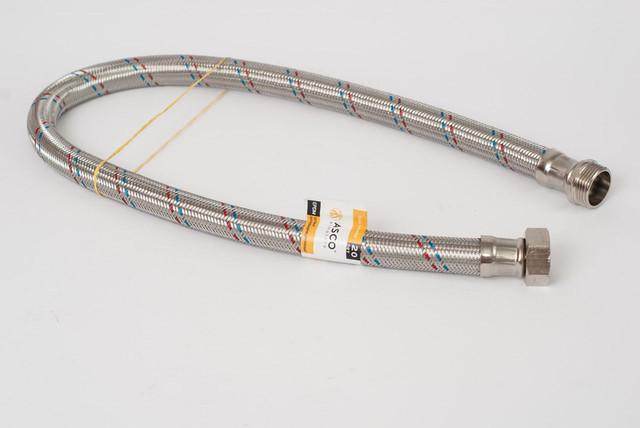 ШЛанг 1 метр для насосной станции резиновый в оплетке