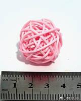 Шар из ротанга 3 см. розовый