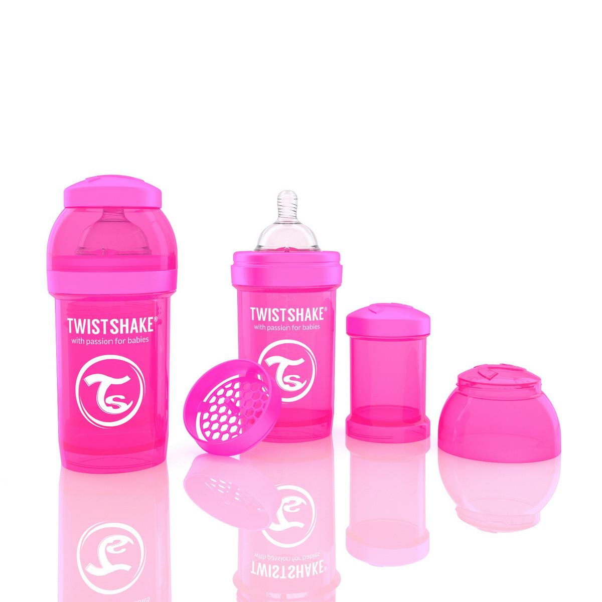 Антиколиковая бутылочка 180ml Pink - TWISTSHAKE