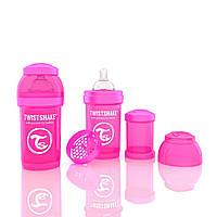 Антиколиковая бутылочка 180ml Pink - TWISTSHAKE, фото 1