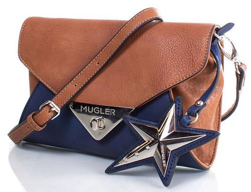 Модельная сумка-клатч 22x15x3 см., искусственная кожа MUGLER FRH-IVORE5 коричневый