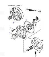 Помпа КПП CA0135190 для Komatsu WB93R-2