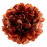 Помпон - Шар из тишью коричневый  25 см