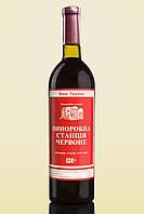 Вино сухое Винодельческая станция красное