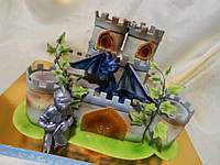 Детский торт Рыцарский замок из мастики  под заказ Харьков