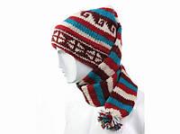 Шапка - шарф чулочная вязаная с помпоном Adeline,зимние шапки