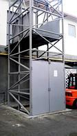 Подъёмник шахтный приставной-пристенный на 1 тонну. Изготовление шахтного подъёмника под заказ.