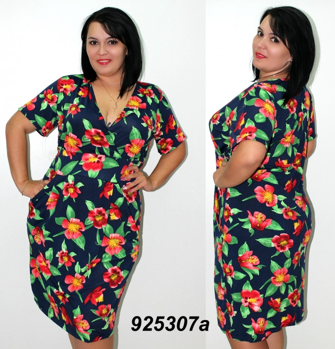 8763c5ee0a8 Женское платье большого размера 58