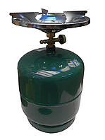Газовый комплект Пикник Golden lion RK-3, 8 литров, латунный кран, тарелка в комплекте