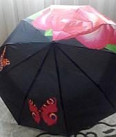 Женский зонт полуавтомат SWITTS UMBRELLA, трехскладка на 10 карбоновых спицах