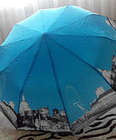 Женский зонт полуавтомат SUSINO UMBRELLA Женский полуавтомат трехскладка на 10 карбоновых спицах