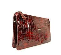 Кожаный клатч Desisan 070 бордовый лаковый, расцветки в наличии