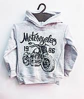 Трикотажный худи Мотоциклист, двунитка