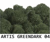 Стабилизированный мох. Цвет Artis GreenDark 04