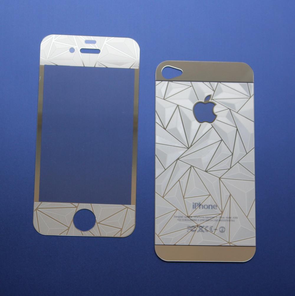 Защитное стекло 3D для iPhone 4 4S двухстороннее