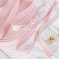 Хлопковая киперная лента розовая