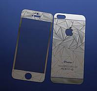 Защитное стекло 3D для iPhone 5 5S SE двухстороннее, фото 1