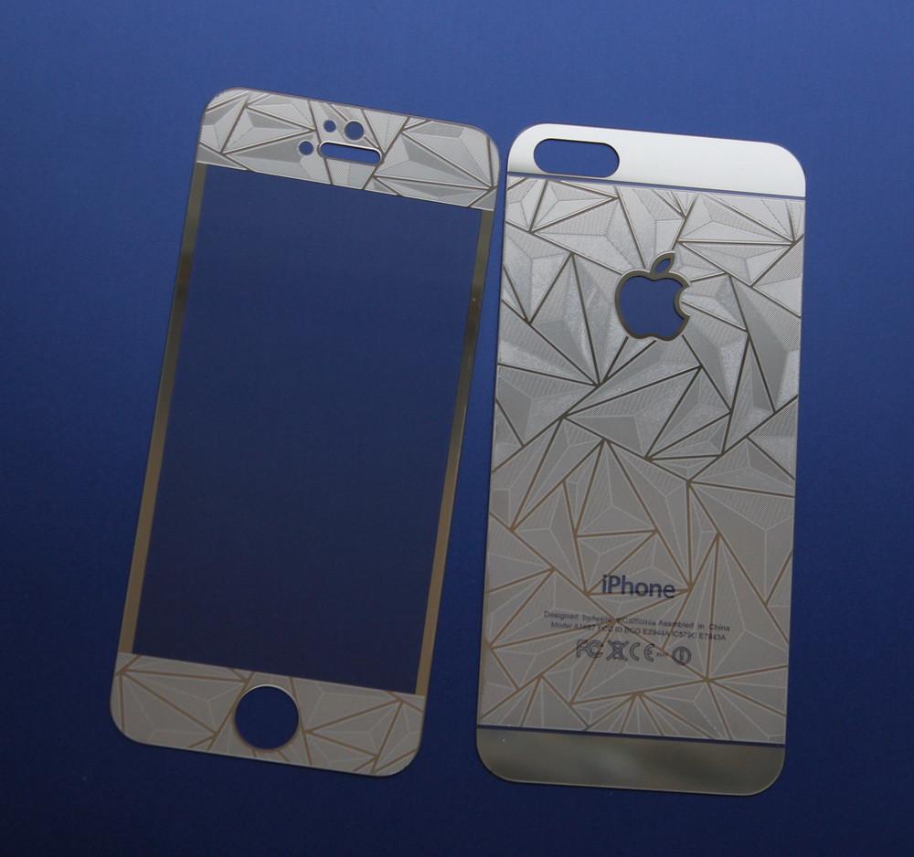 Защитное стекло 3D для iPhone 5 5S SE двухстороннее