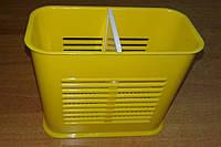 Подставка для столовых приборов 2-секции, органайзер Желтый
