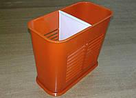 Подставка для столовых приборов 2-секции, органайзер Красный