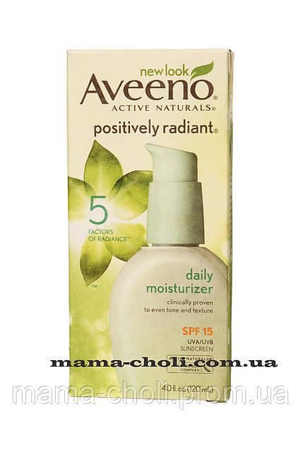 Дневной увлажняющий крем SPF 15 Positively Radiant Aveeno - интернет-магазин Мама Чоли в Киеве
