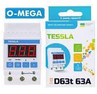 Реле контроля напряжения TESSLA D63t с термозащитой, фото 1