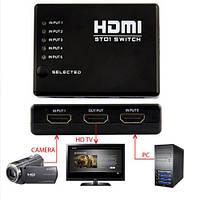 5 портовый HDMI свич селектор сплиттер переключатель +пульт