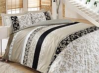 Семейный комплект постельного белья Cotton Box Deborah Bej, Mode Line, ранфорс, Турция