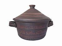 Кастрюля с крышкой СК (Станиславcкая глиняная посуда)
