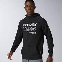 Джемпер черный для мужчин Reebok Workout Ready Cotton Graphic AY2233