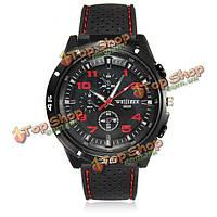 Мужчин военный летчик Авиатор армии силиконовый спорта наручные часы