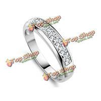 Элегантный посеребренная циркон кристалл палец кольцо для женщин