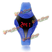 Случайный цифровой закуски глава фор силиконовой лентой студент наручные часы спорта