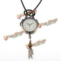Ретро бронза античная колокол мяч цепи ожерелье карманные часы