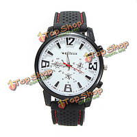 Мужчина военный летчик Авиатор армейские спортивные силиконовые кварцевые наручные часы