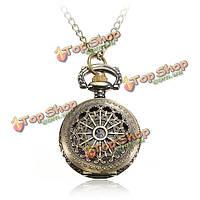 Старинные паровые панк бронза кварц ожерелье карманные женские часы