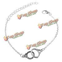 Золото серебро сплав наручников Шарм пряжка браслет-цепочка ювелирные изделия